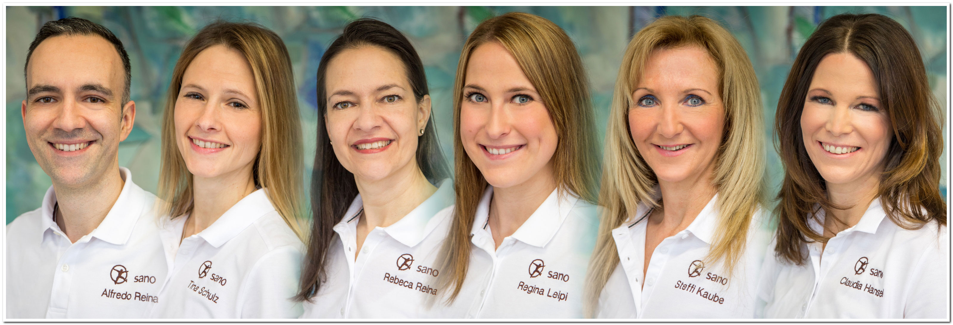 Team für Physiotherapie, Prävention, Massage, manuelle Therapie der Praxis sano in Göppingen